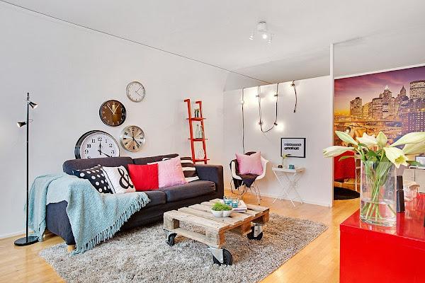 Relojes pared modernos decorar tu casa es - Relojes salon modernos ...
