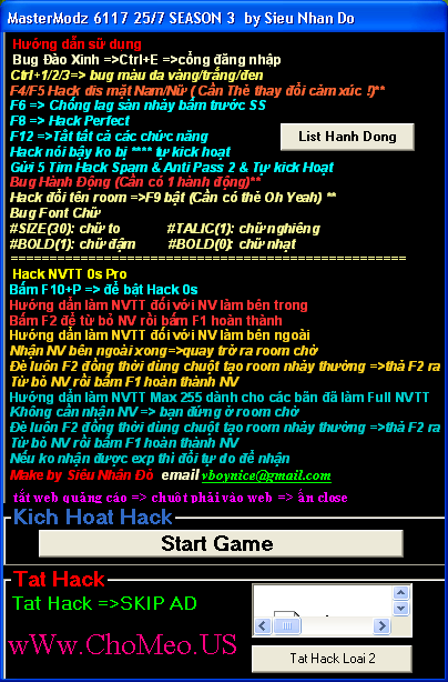 [B] •MasterModz 6119| Hack Diss Mat | Hack Bug Hanh Dong [/B] Hack+mastermodz+6117