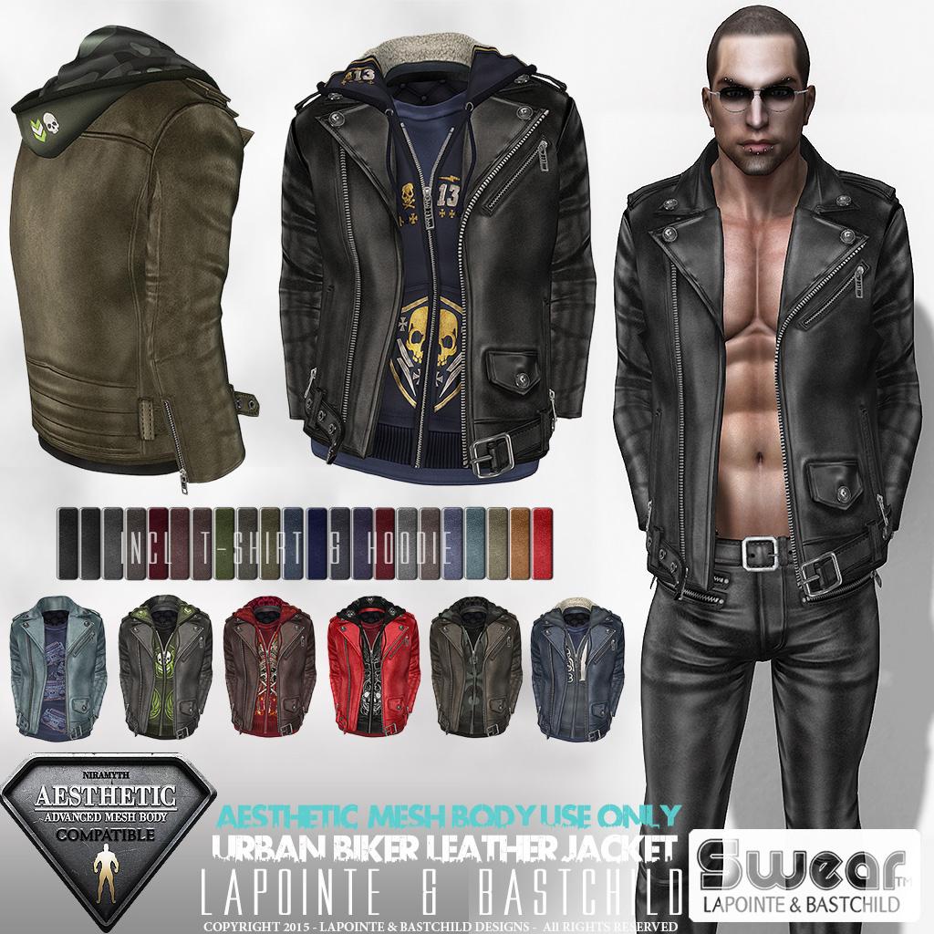 Leather jacket aesthetic - Aesthetic Compatible Urban Biker Jacket