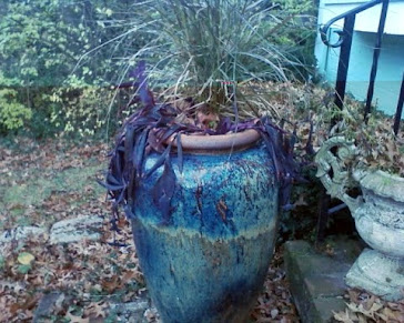 blue-green flower pot