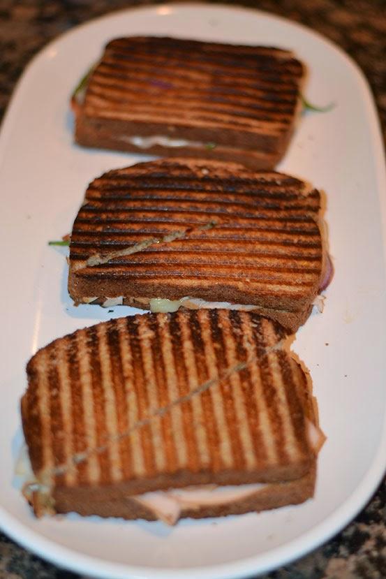 turkey panini Superbowl snacks - Cordier Evens