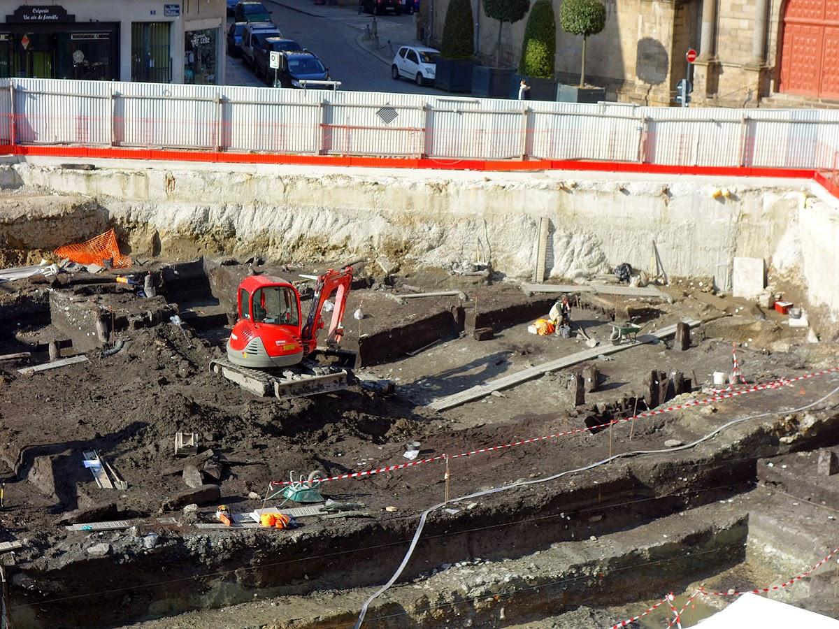 La place Saint-Germain en cours de fouilles - Rennes - 11 Févier 2015