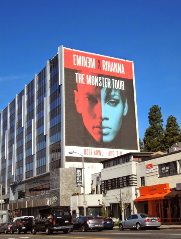 Eminem Rihanna Monster Tour rose bowl billboard