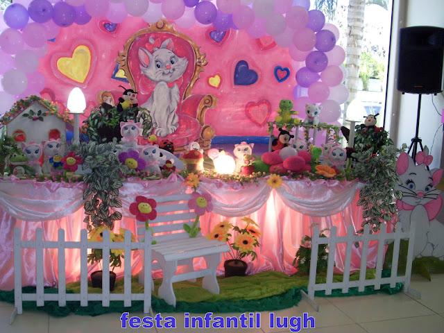 Tema infantil da Gata Marie - festa de aniversário na Barra da Tijuca RJ