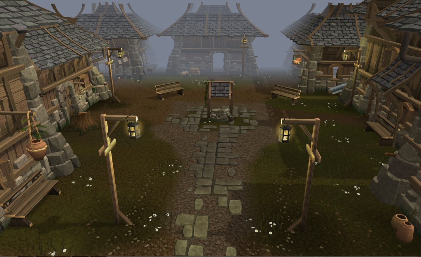 Runescape MMORPG game review picture of rimmington in runescape hd 3