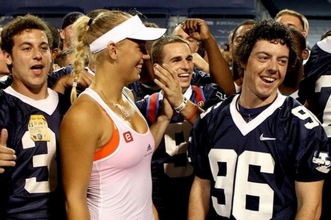 Caroline Wozniacki Rory Mcilroy Kiss McIlroy wore a Yale University