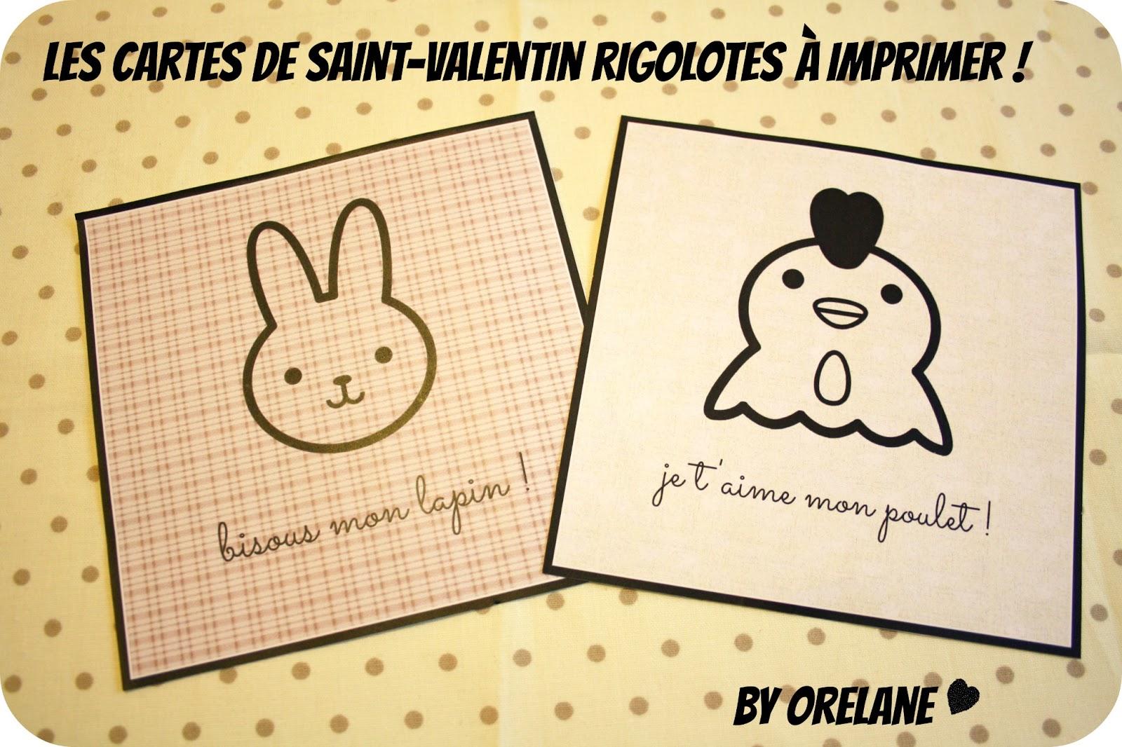 Orelane a imprimer les cartes rigolotes de saint valentin - Carte st valentin gratuite a imprimer ...