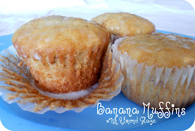 Lion House Banana Bread Muffins with Almond Glaze | Six Sisters' Stuff