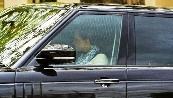 Prince William And Catherine, Duchess Of Cambridge Left Kensington Palace For Anmer Hall