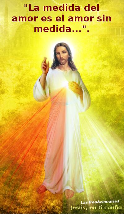 imagen divina misericordia con dicho de san agustin