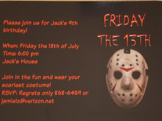 Friday the 13th Party Invitations