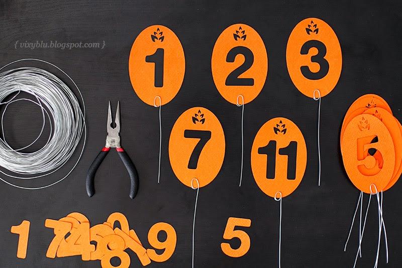 numere masa nunta handmade