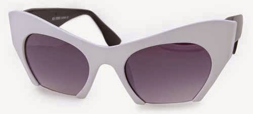WHITE CAT EYE VINTAGE STYLE SUNGLASSES