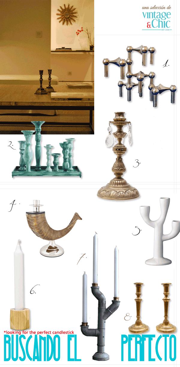 portavelas industrial candelabros vintage antiguos latón y bronce candelero madera escandinavo portavelas apilables metal