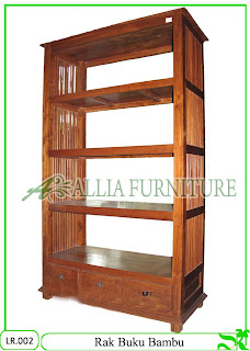 Rak Buku / Hias Klender Bambu