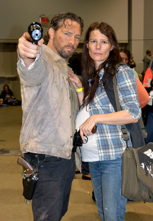 Rick and Pregnant Wife | Walker Stalker Con 2015