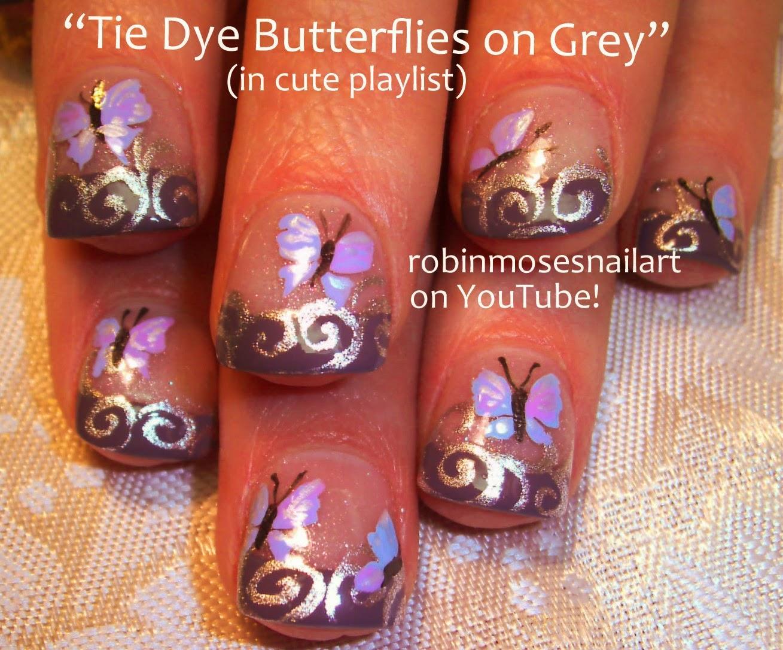 Nail Art By Robin Moses Nail Art Cute Butterfly Nails