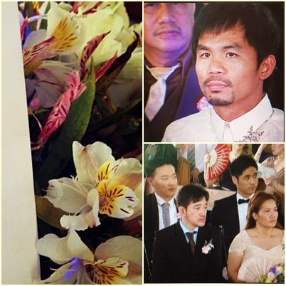 Manny Pacquiao, Ryan Bang and Paul Jake Castillo at Melai-Jason wedding