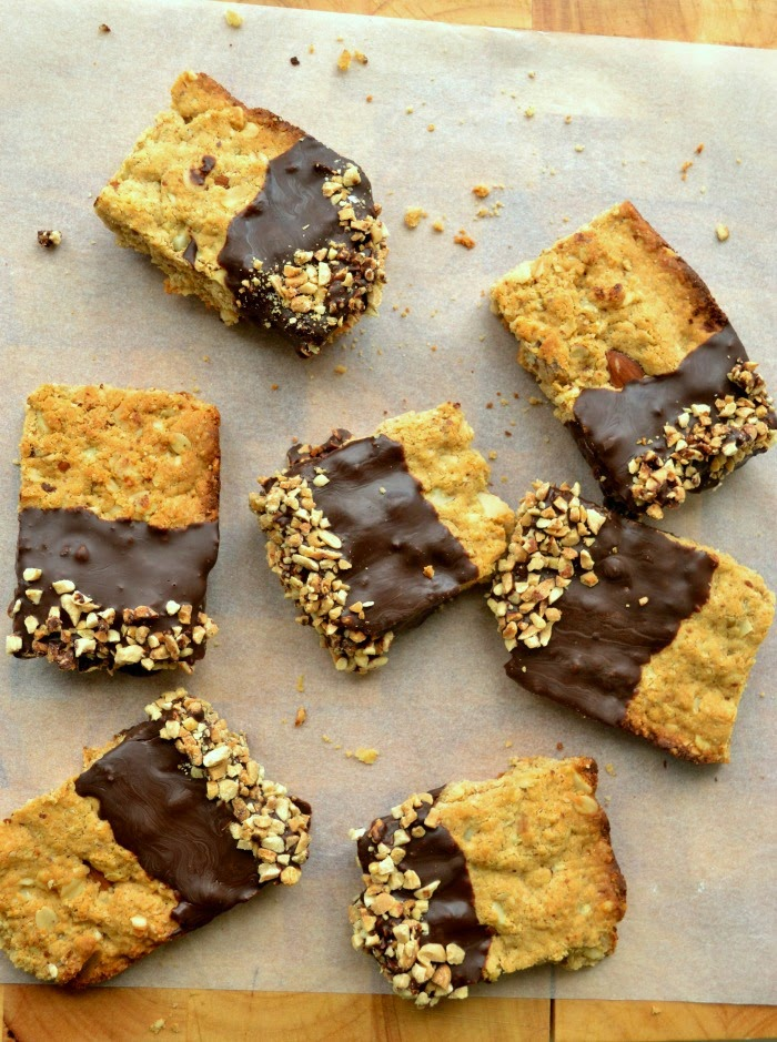 Homemade Healthy Chocolate and Nut Protein Bars