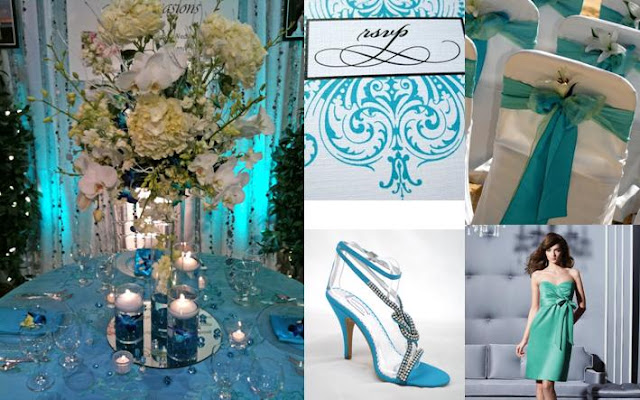 DECORACION MATRIMONIO BODA COLOR TURQUESA WEDDING TURQUOISE