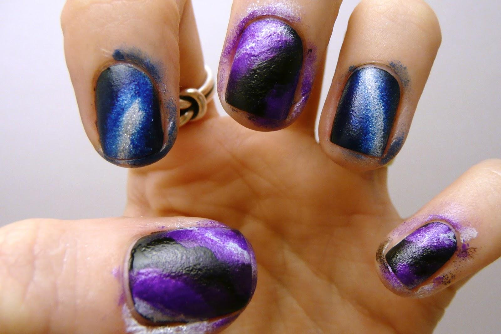 Casa de Polish: Nail Art Nail-Off: Galaxy Nails