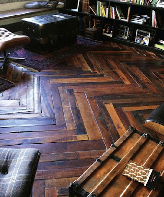 wood herringbone floor
