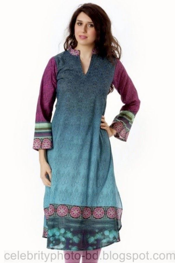 Women u0026 Girls Stylish Long Kurti and Jeans Collection 2014 for Upcoming Eid