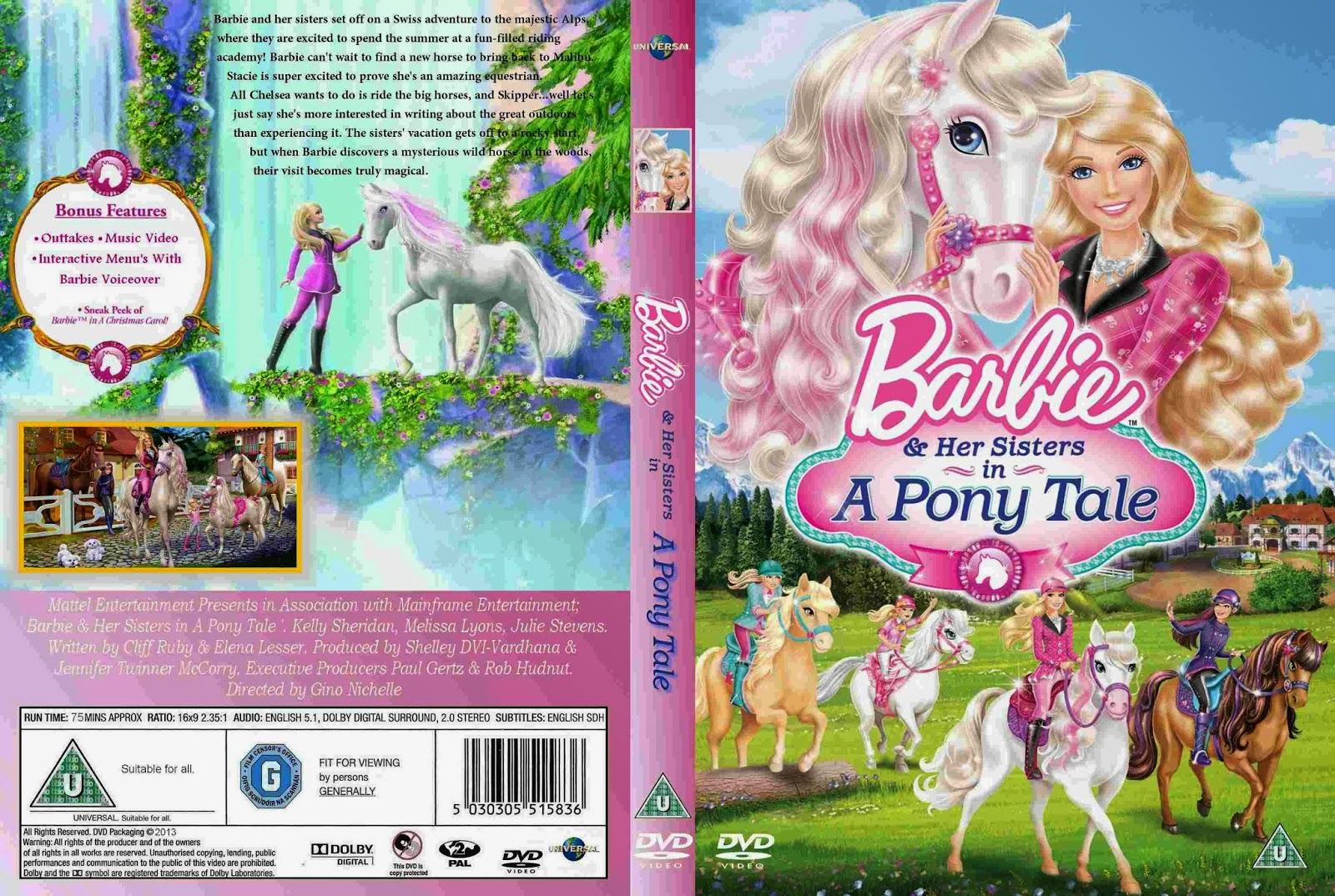 Barbie & Her Sisters in A Pony Tale [2013] DVD NTSC Latino YG