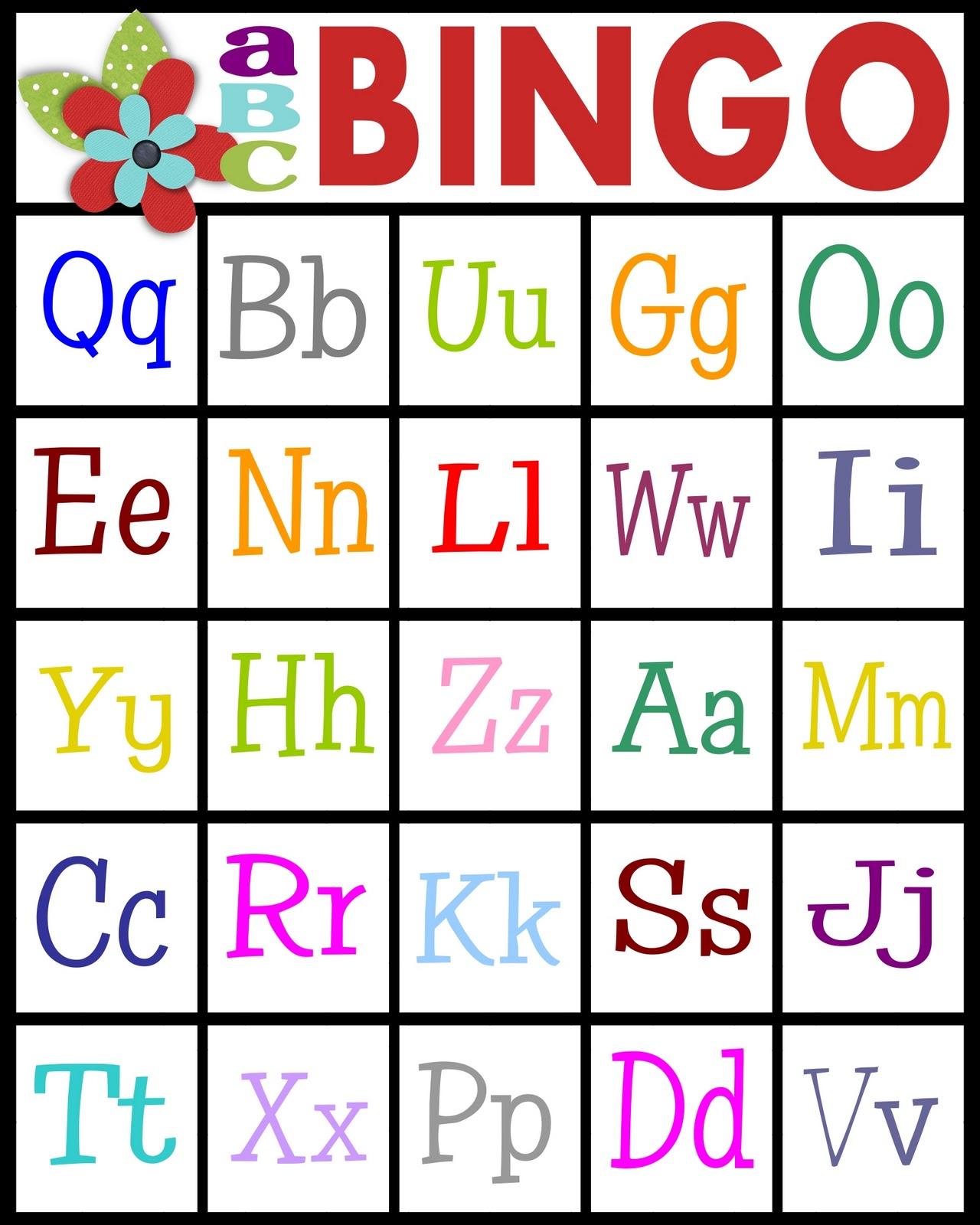 picture regarding Alphabet Bingo Printable referred to as ABCs Bingo- absolutely free printable! - Sy Sanctuary