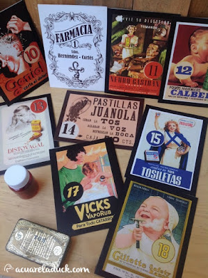 carteles medicamentos antiguos