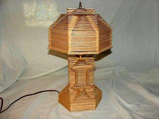 โคมไฟไม้ไอติม