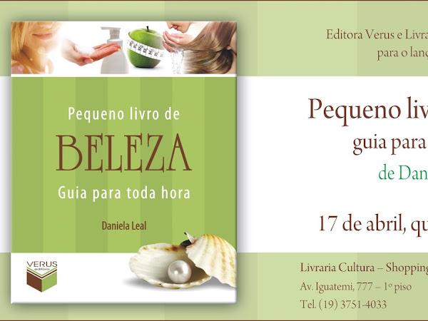 Evento de lançamento da Editora Verus em Campinas: Pequeno Livro de Beleza, Daniela Leal