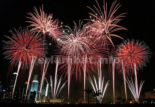 Kembang Api Tahun Baru Perayaan