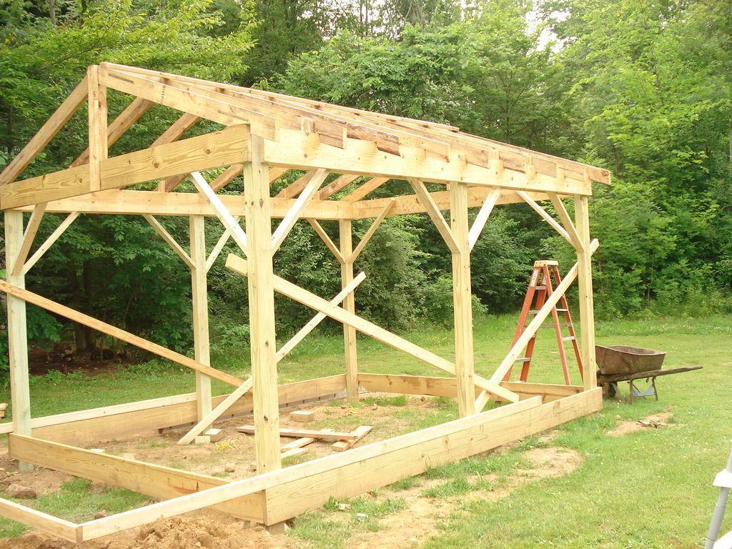 Поэтапное строительство каркасного садового дома своими руками