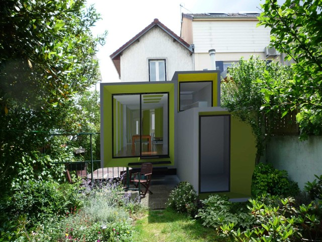 Nim architecture extension pavillon a colombes for Extension pavillon