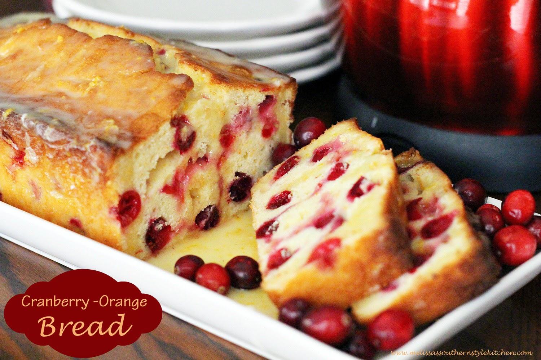 Cranberry Orange Yogurt Bread - melissassouthernstylekitchen.com