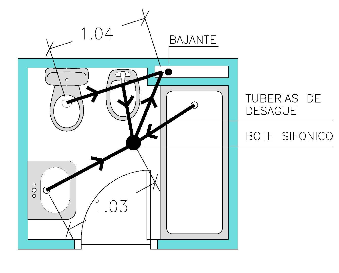 Nuevos espacios para mi casa - Bote sifonico bano ...