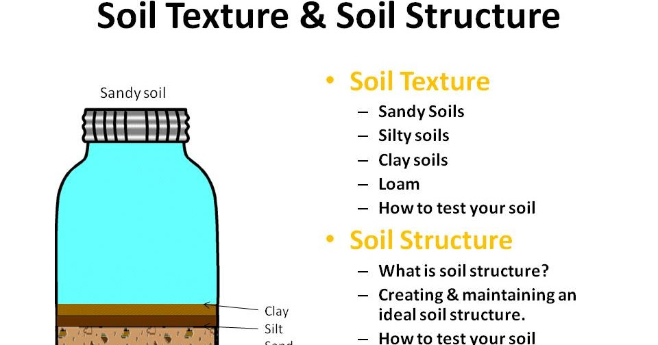 Gardening time soil texture and soil structure for T and t soils