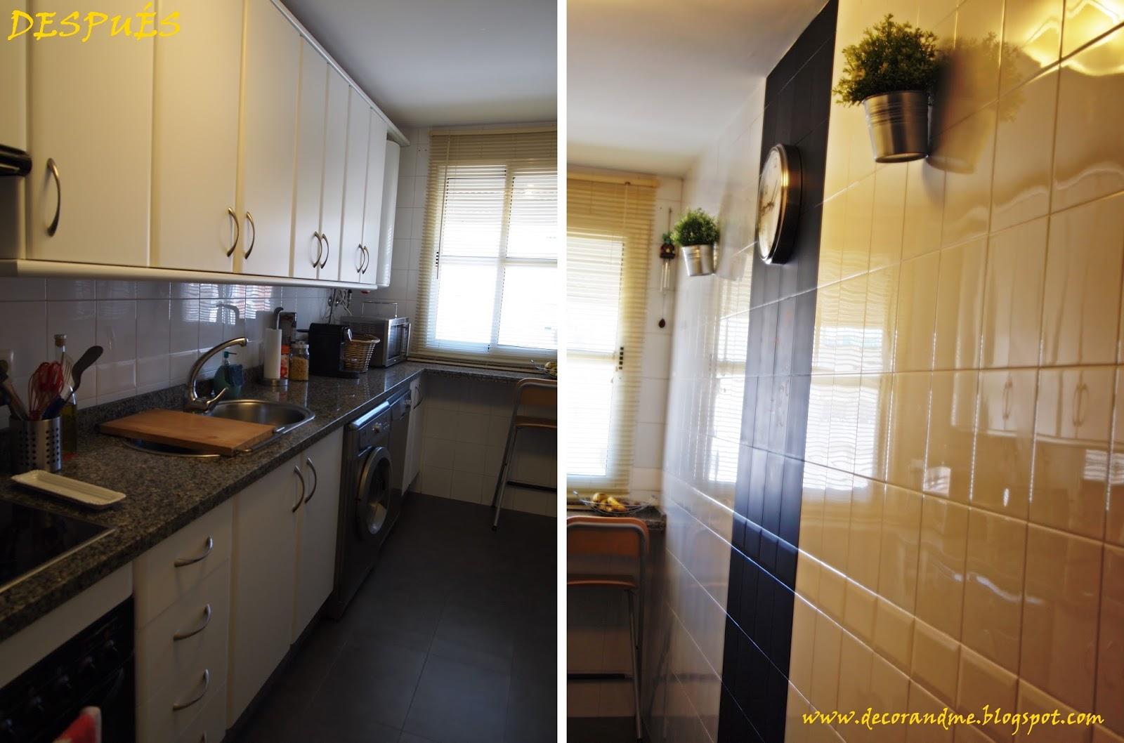 Decor me diy cambia tu cocina por poco dinero - Pintura para azulejos de cocina ...