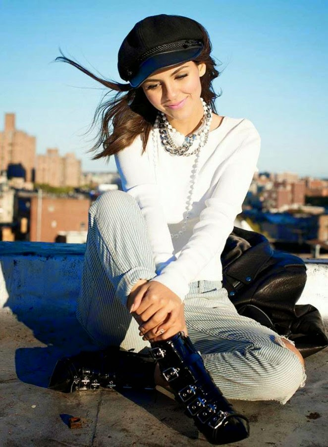 Victoria Justice poses for Seventeen Argentina's February 2015 issue