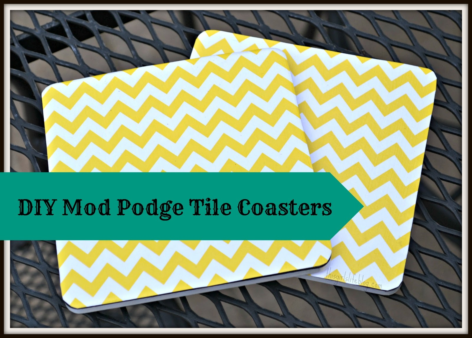 Juripunek diy mod podge tile coasters for Diy using mod podge