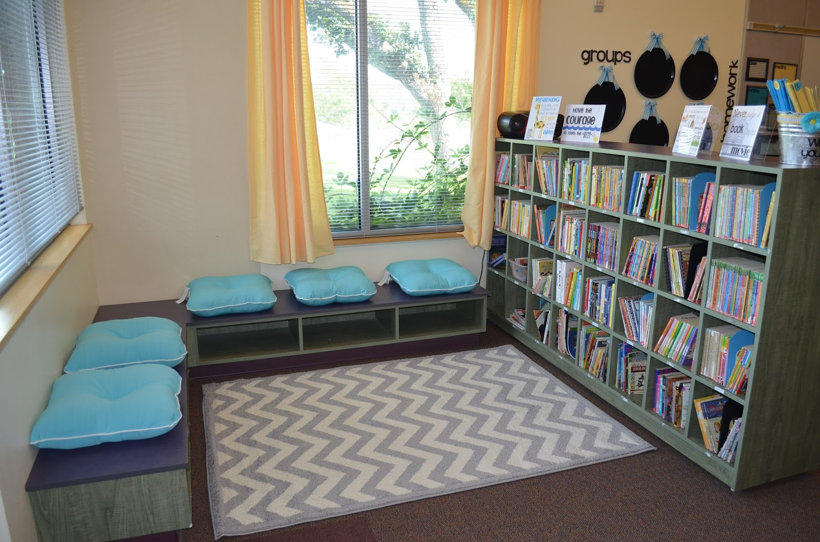 Dandelions and dragonflies an oregon classroom reveal Small library room design ideas