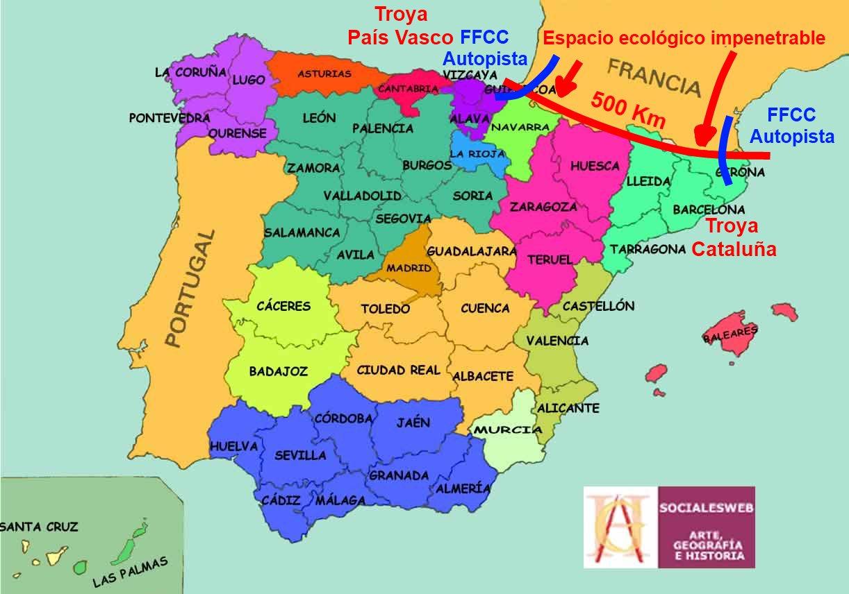 Mapa Con Nombres De Espaa
