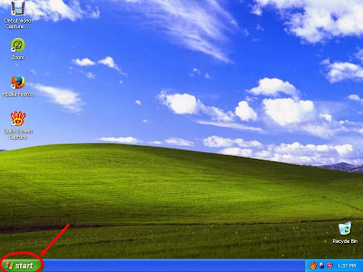 Learn how to hide files and folders in windowsXP step1