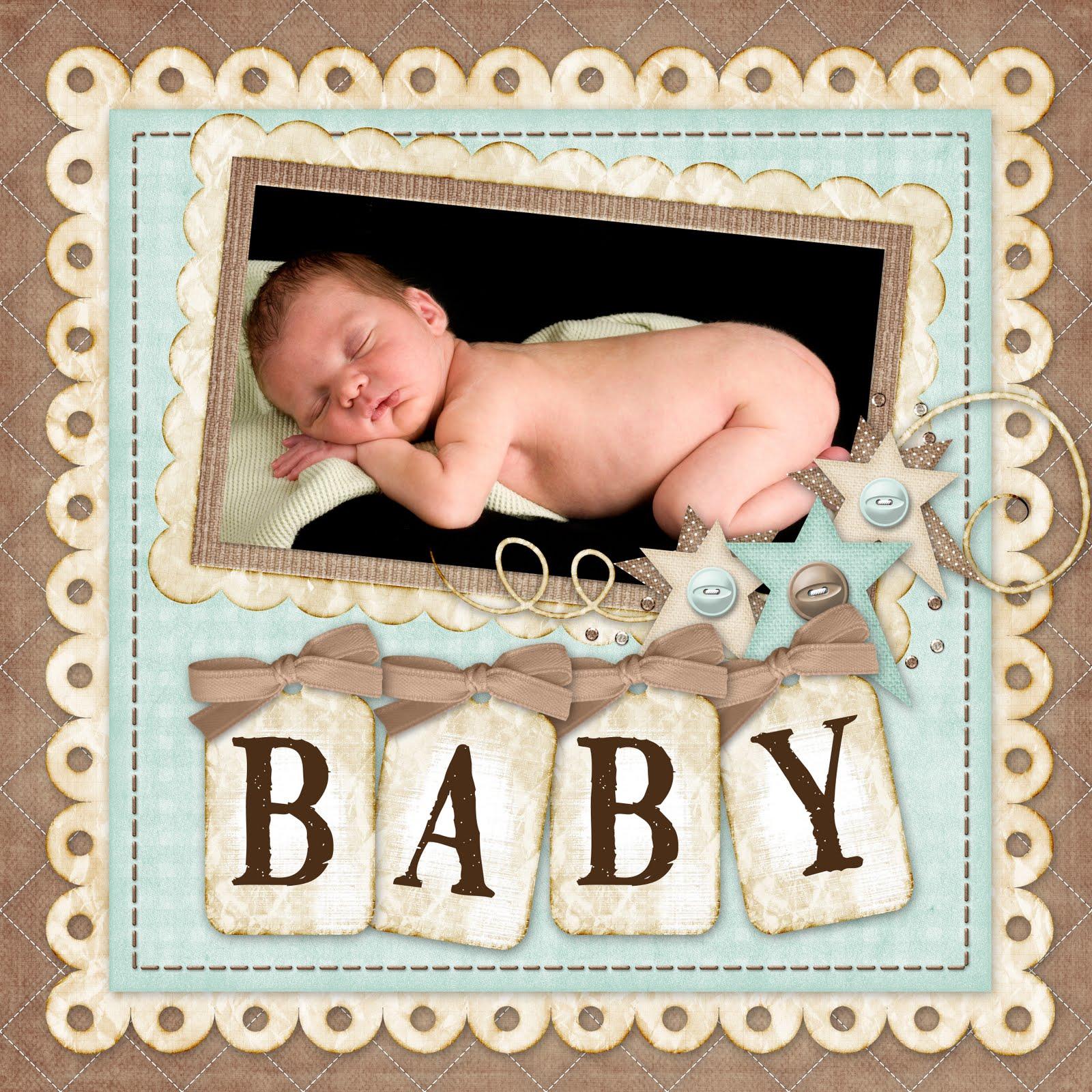 Baby scrapbook page ideas - Baby Boy Scrapbook Ideas