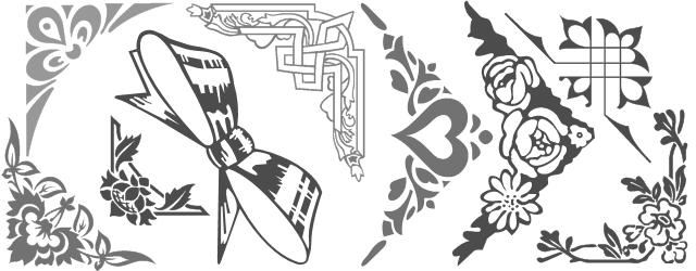 Decorative border font shree247
