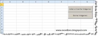 VBA: Una macro en Excel para insertar imágenes.