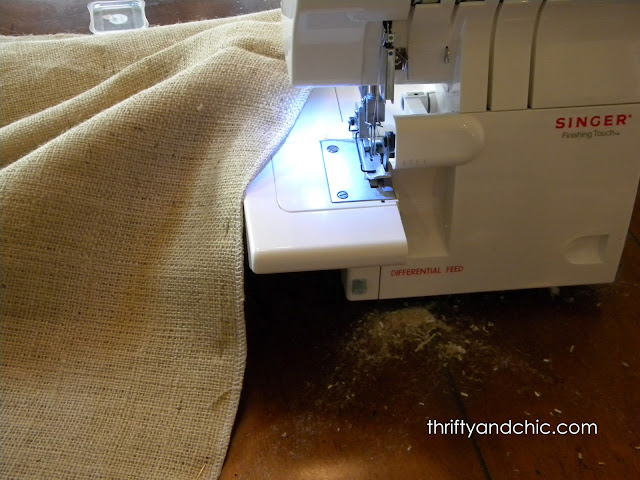 sewing burlap curtains