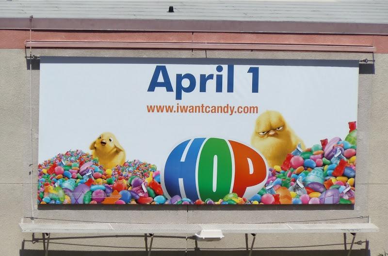 Hop Easter chicks billboard