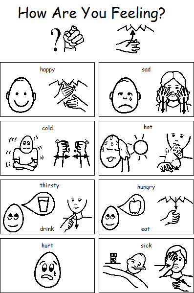 feelings chart coloring pages - photo#27